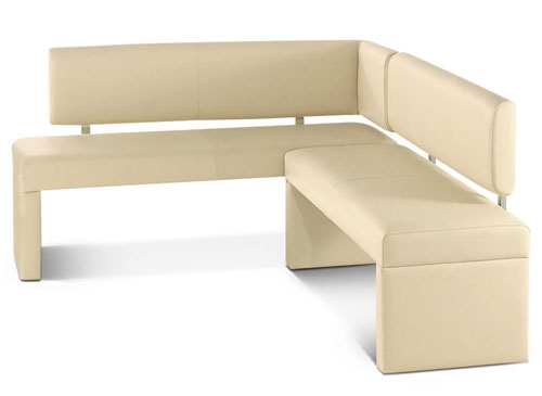 eckbank sandy 130 x 180 cm leder creme flexibel essecke lager ebay. Black Bedroom Furniture Sets. Home Design Ideas