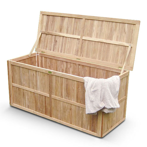 echt teak gartenbox auflagenbox kissenbox 130 cm lager ebay. Black Bedroom Furniture Sets. Home Design Ideas
