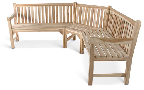 gartenbank teak eckbank holz bank 210 x 210 cm lagerware ebay. Black Bedroom Furniture Sets. Home Design Ideas