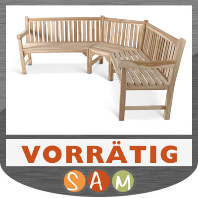 gartenbank teak eckbank holz bank 210 x 210 cm lagerware eur 599 00 picclick de. Black Bedroom Furniture Sets. Home Design Ideas
