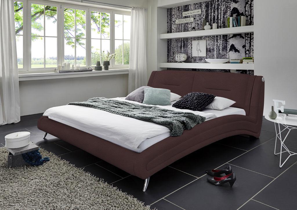 gio lederbett 140 x 200 cm farbauswahl samira bestellware. Black Bedroom Furniture Sets. Home Design Ideas