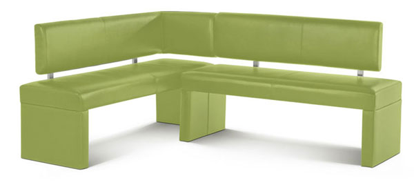 eckbank sesto 152 x 195 cm leder lemon green flexibel essecke lager ebay. Black Bedroom Furniture Sets. Home Design Ideas