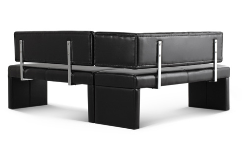 eckbank sofia 152 x 195 cm leder schwarz flexibel essecke lager ebay. Black Bedroom Furniture Sets. Home Design Ideas