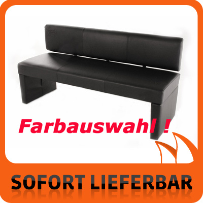 farbauswahl sitzbank 162 cm esszimmer sam3 3 sitzer leder bank ebay. Black Bedroom Furniture Sets. Home Design Ideas