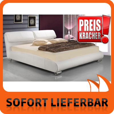 leder bett top 504 kopfteil klappbar 180 cm polsterbett. Black Bedroom Furniture Sets. Home Design Ideas