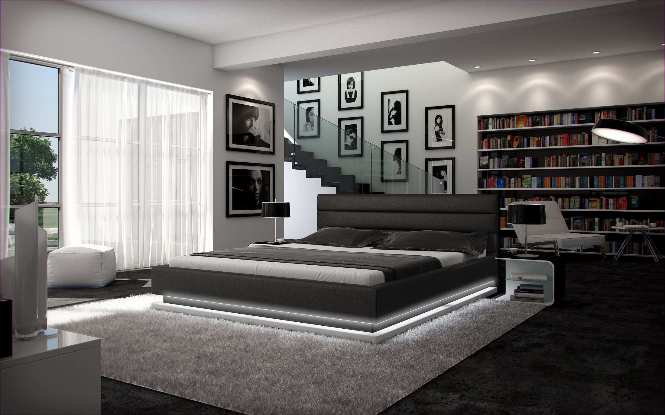 polsterbett 180 x 200 cm gio leder farbauswahl pani. Black Bedroom Furniture Sets. Home Design Ideas